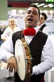Traditional italian singer at BIT 2012 Royalty Free Stock Photography