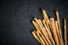 Traditional Italian snack  - grissini Royalty Free Stock Images