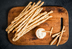 Traditional Italian snack  - grissini Royalty Free Stock Photography