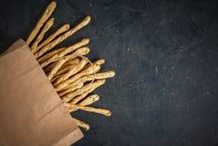 Traditional Italian snack  - grissini Royalty Free Stock Photo
