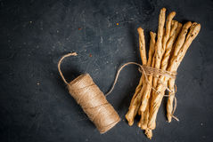 Traditional Italian snack  - grizzini Royalty Free Stock Photos