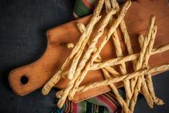 Traditional Italian snack  - grizzini Royalty Free Stock Photo