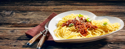Traditional Italian spaghetti with parmesan