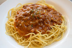 Traditional Italian spahgetti Bolognaise Stock Photos