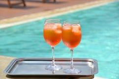 Traditional Italian Spritz cocktail Royalty Free Stock Photos