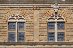 Traditional Italian windows, Rome, Italy Royalty Free Stock Photo