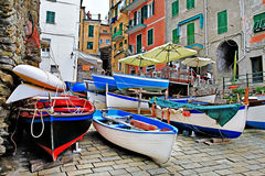 Traditional italy - fishing vilage Stock Image