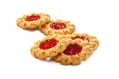 Traditional jam cookies Royalty Free Stock Photo