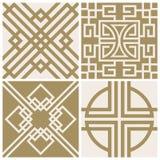 Traditional japan, asian vector seamless patterns set. Traditional korea, japan, asian vector seamless patterns set. Vector illustration royalty free illustration