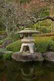 Traditional japanease garden lamp Royalty Free Stock Images