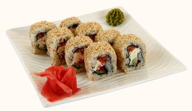 Traditional japaneese meal sushi Royalty Free Stock Photo