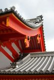 Traditional Japanese architecture. Kyoto Imperial Palace architecture detail Stock Photos