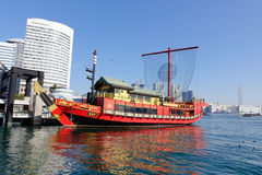 Traditional Japanese boat at Tokyo Stock Photo
