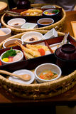 Traditional Japanese boxed dinner or lunch Royalty Free Stock Photo