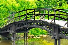 Traditional japanese bridge Royalty Free Stock Photos