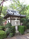 Traditional Japanese Buddhist temple garden Royalty Free Stock Images