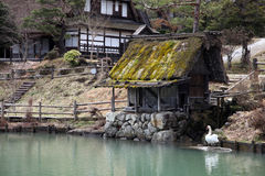 Traditional Japanese buildings Royalty Free Stock Image