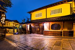 Backstreets of Kyoto at Night royalty free stock photos