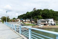 Traditional Japanese Castle in Karatsu. Beautiful sightseeing scenery landscape royalty free stock photo
