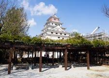 Traditional Japanese castle in Karatsu, Saga prefecture. Karatsu, Japan - November 3, 2016: White tower of reconstructed Karatsu castle stock images