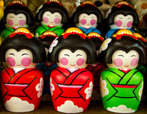 Traditional Japanese Ceramic souvenir doll Stock Images