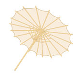 Traditional japanese or chinese umbrella over white backgrround Stock Photography