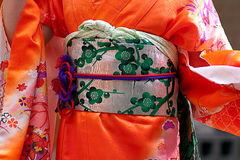 Traditional Japanese clothing Stock Photo