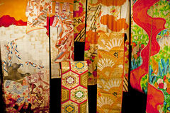 Traditional Japanese clothing Kimono detail Royalty Free Stock Photo