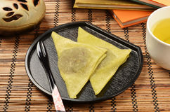 Traditional Japanese confectionery Royalty Free Stock Image