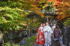Traditional Japanese Couple Stock Photography