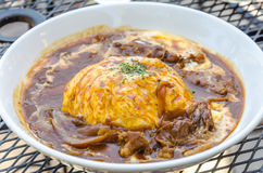 Traditional Japanese curry omelet Stock Images