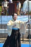 Traditional Japanese Dance Royalty Free Stock Photo