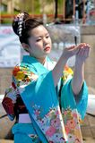 Traditional Japanese Dance Royalty Free Stock Photography