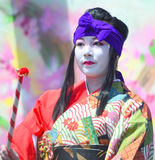 Traditional Japanese Dancer Stock Images