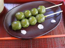 Traditional Japanese Dango Dessert Royalty Free Stock Photography