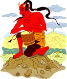 Traditional Japanese devil Stock Images