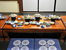 Traditional Japanese Dinner, Takayama, Japan Royalty Free Stock Image