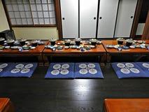 Traditional Japanese Dinner, Takayama, Japan Royalty Free Stock Image