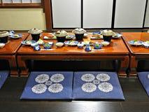 Traditional Japanese Dinner, Takayama, Japan Stock Image