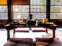 Traditional Japanese dinning table Stock Image