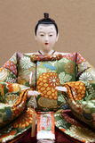 Traditional Japanese doll. Close up of traditional Japanese hina doll Stock Image