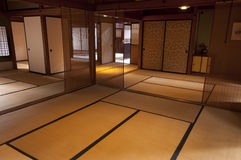 Traditional japanese edo period  house room at Kyoto Royalty Free Stock Images