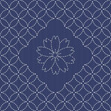 Traditional Japanese Embroidery Ornament with blooming sakura fl Stock Photo
