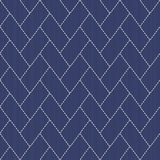Traditional Japanese Embroidery Ornament with lines and rectangles. Vector seamless pattern. Japanese sashiko motif - higaki - cypress fence Stock Photo