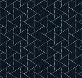 Traditional japanese embroidery. Sashiko. Seamless pattern. Stock Images