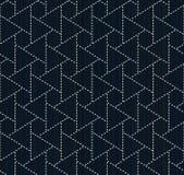 Traditional japanese embroidery. Sashiko. Seamless pattern. Stock Images