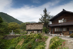 Traditional Japanese farm house. A photo of a traditional farm house called gasshō-zukuri in Shirakawa Go, Japan Royalty Free Stock Images