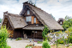 Traditional Japanese farm house. A photo of a traditional farm house called gasshō-zukuri in Shirakawa Go, Japan Royalty Free Stock Photography