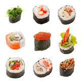 Traditional Japanese food. On the white royalty free stock photography