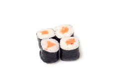 Traditional Japanese food. On a white background Stock Image